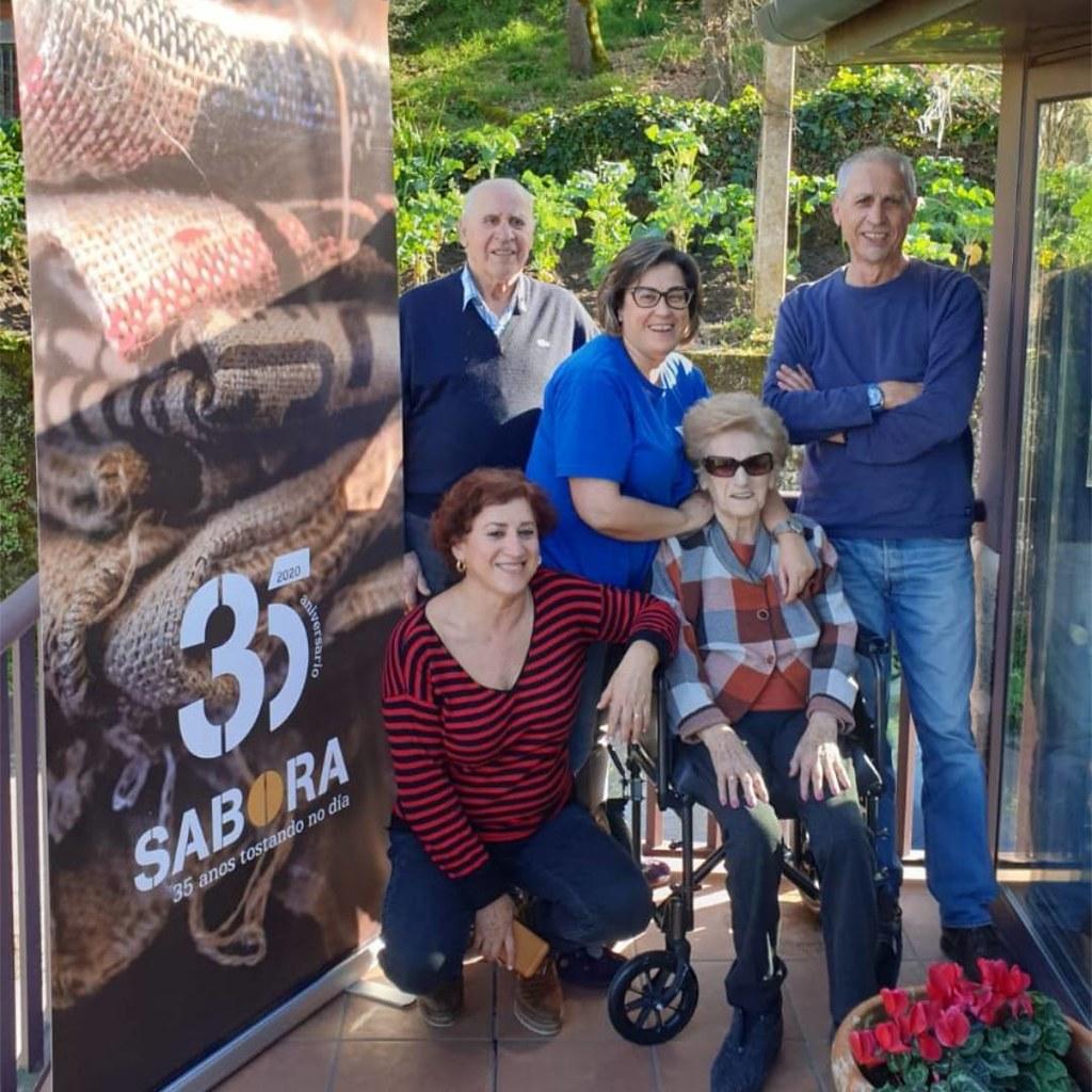 Dos generaciones de la familia Alonso - Cafés Sabora