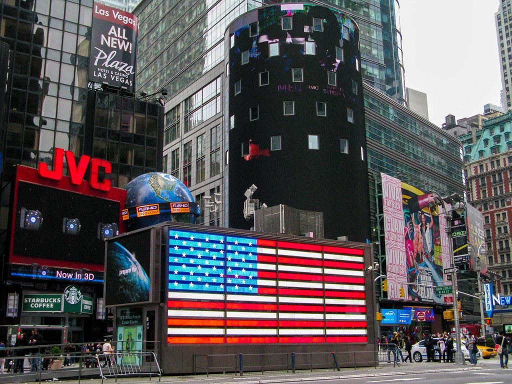 Bandera de Estados Unidos en Nueva York