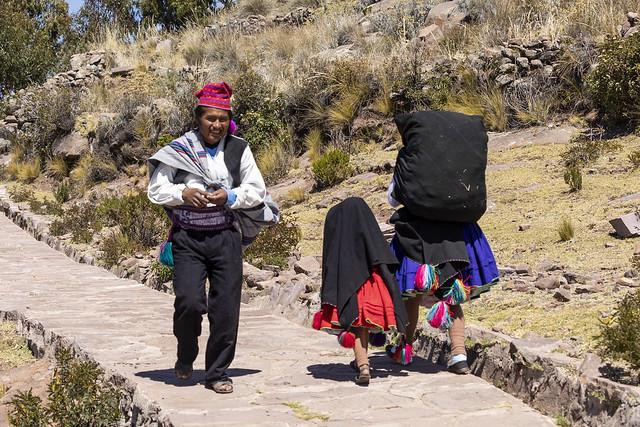 La gente de Isla Taquile