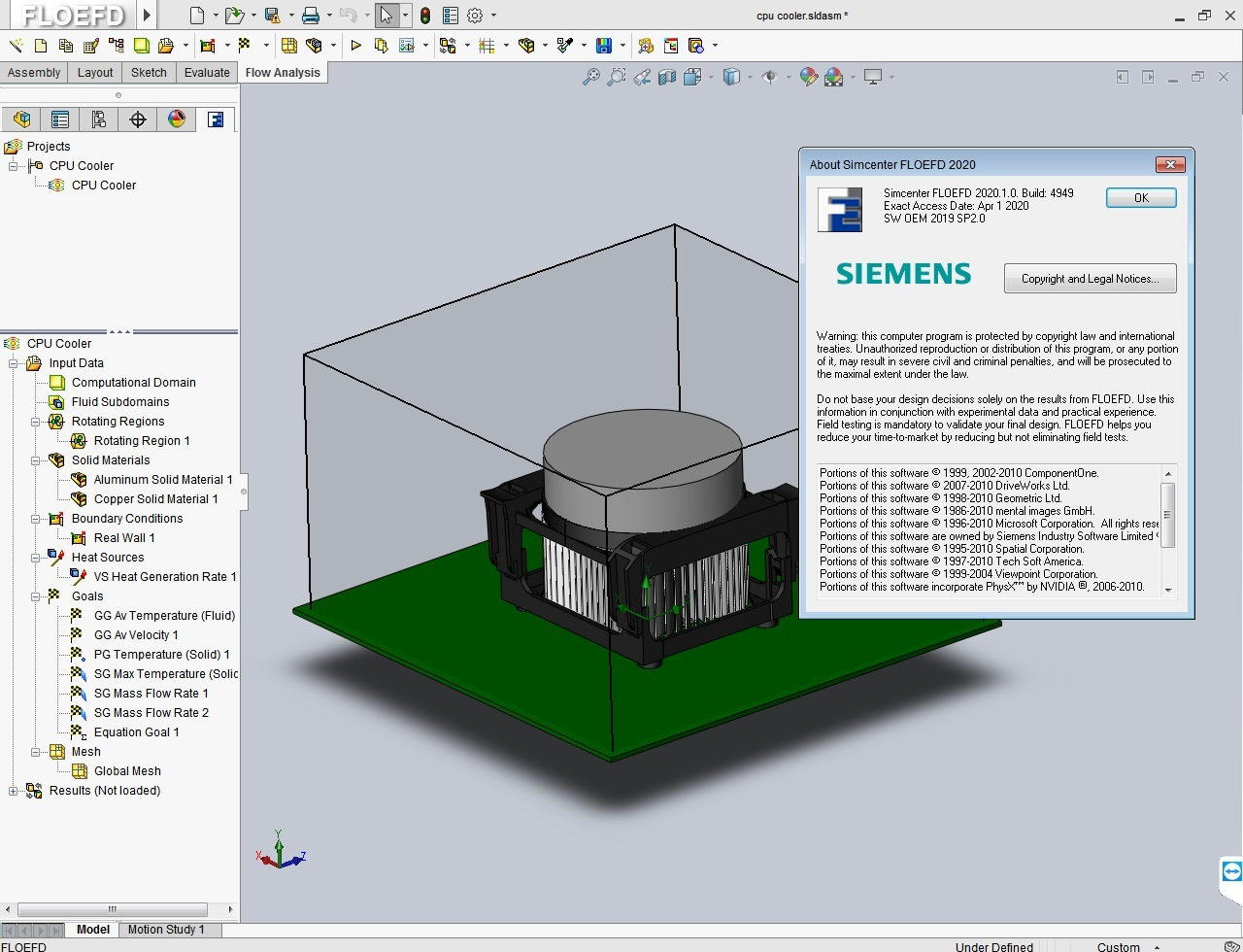Working with Siemens Simcenter FloEFD 2020.1.0 v4949 Standalone full