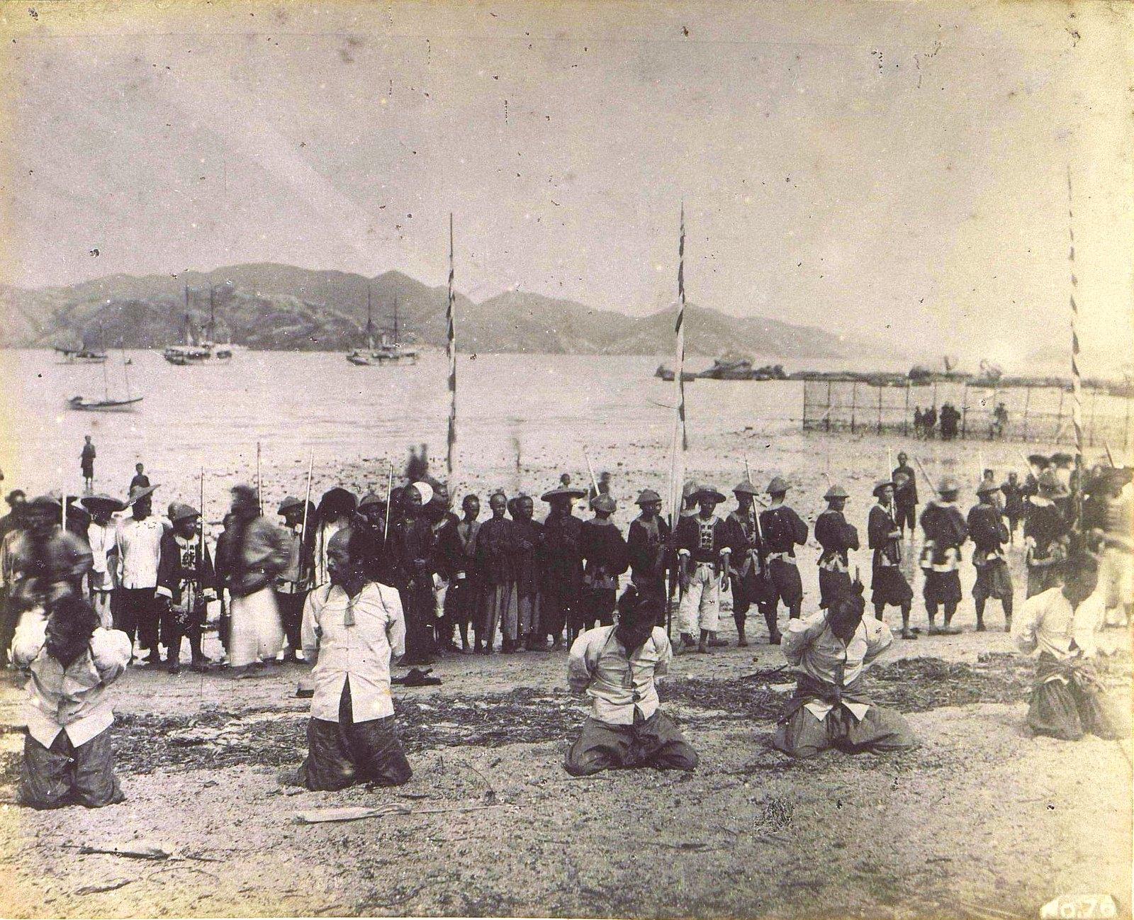 1899. Гонконг. Казнь китайских пиратов.