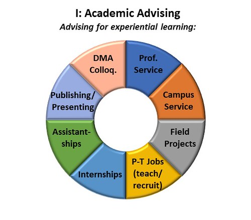 Doughnut chart showing 8 experiential learning activities for DMA candidates