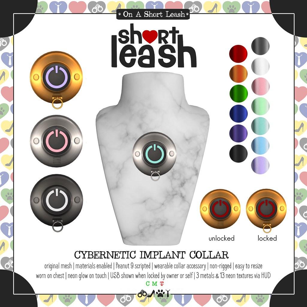 .:Short Leash:. Cybernetic Implant Collar