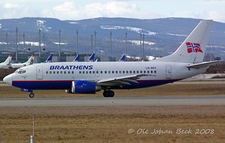 SAS Norge B737-505 LN-BRX at ENGM/OSL 05-04-2008 | by Ole Johan Beck