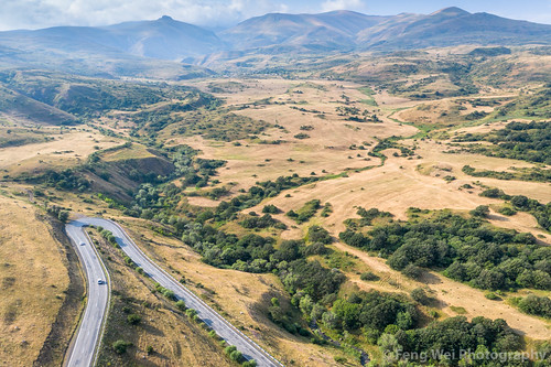 mountainpass windingroad traveldestinations asia landscape armenia travel aerialview road caucasus outdoors colorimage extremelandscape tourism horizontal dronepointofview syunikprovince
