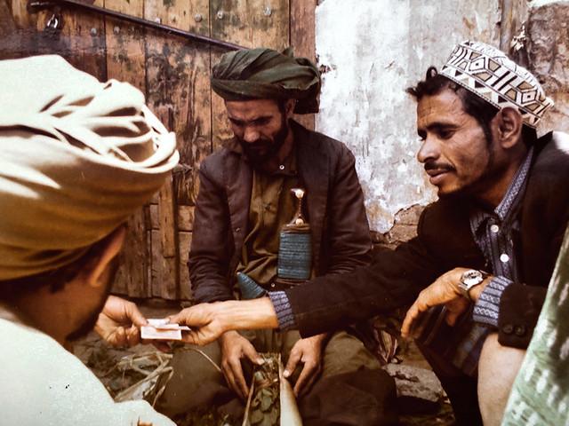 Yémen ( 1976 ) - Transaction de quat à Sanaa.