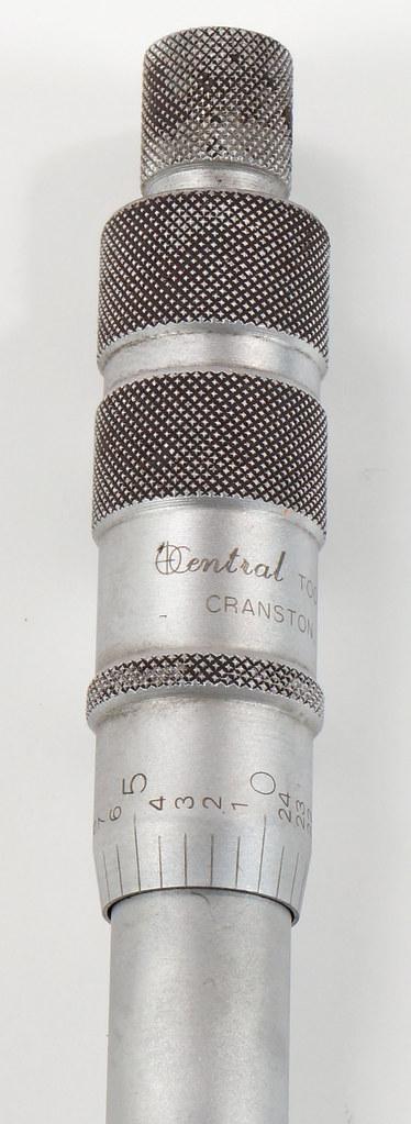 RD18342 Central Tools Disc Brake Rotor Micrometer #6202 in Box DSC04269