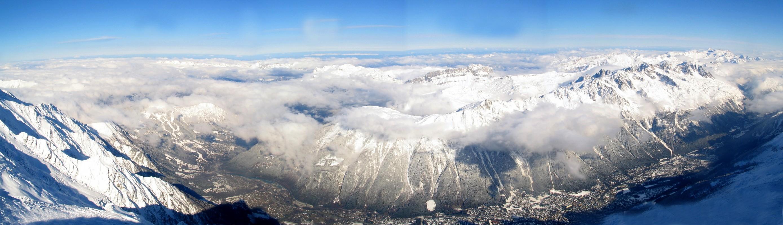 Chamonix-Mont-Blanc Massif Mont Blanc France panorama 05