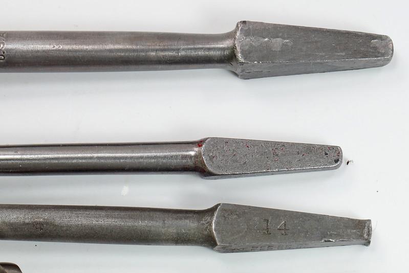 RD29559 9 Antique Auger Drill Bits - 6 Irwin Sizes 4,5,6,8,10 & 12 Plus BGI 14, Convalco Expansive, Craftsman DSC04229
