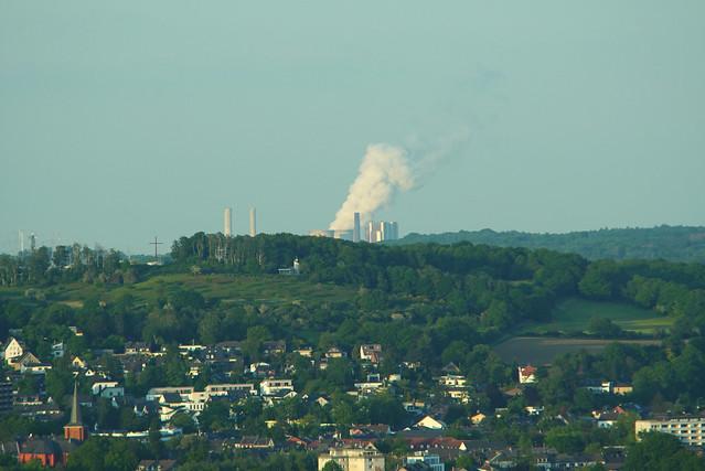 Haarberg & Kraftwerk Eschweiler-Weisweiler vom Lousberg