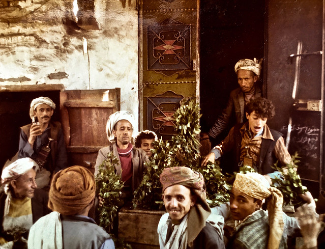 Yémen ( 1976 )  -  Vente de quat à Sanaa.