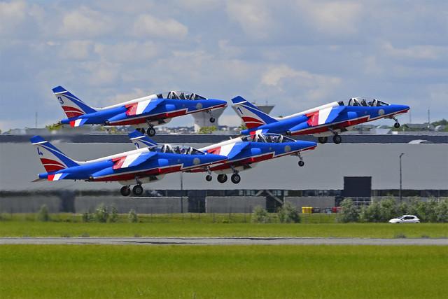2019.06.21.183 LE BOURGET - Dassault Alpha Jet E (code.1 F-HURE cn.44) Patrouille de France
