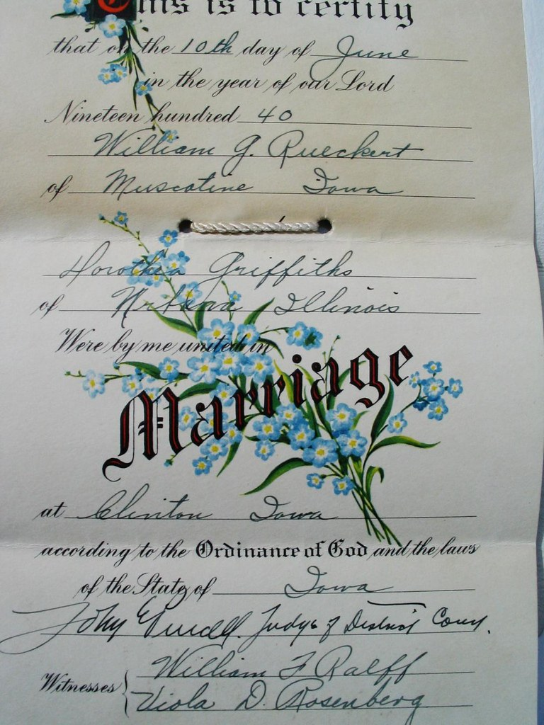 Second Marriage Certificate