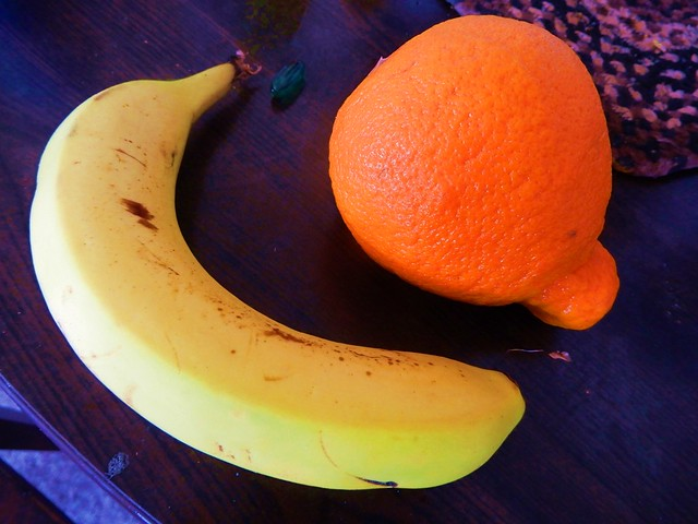Banana & Minneola - Still Life Photo by STEVEN CHATEAUNEUF - Taken On May 12, 2020 - Extra Saturation Was Added