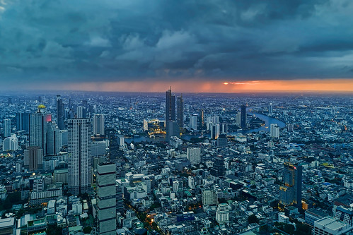 architecture outdoors cityscape no people building exterior city sunset skyscraper aerial view cloud modern sky travel destinations bangkok thailand