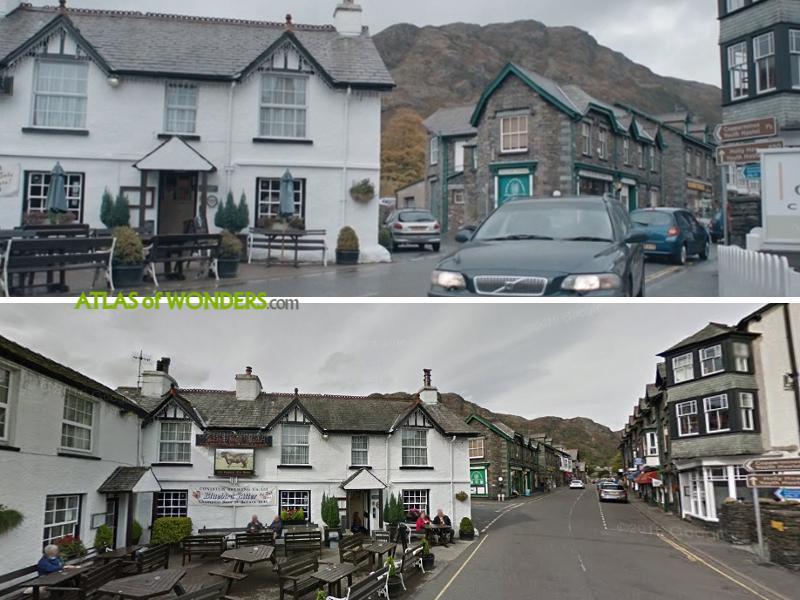 The pub scenes