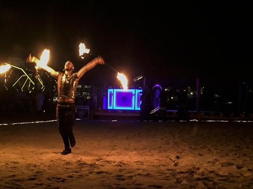 Evening entertainmnet on the beach, Royalton Riviera Cancun Resort & Spa, Mexico