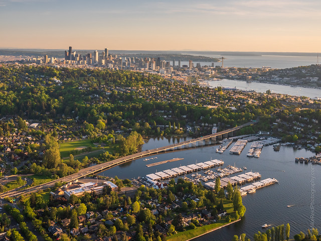 Over Seattle Montlake and North Capitol Hill GFX50s