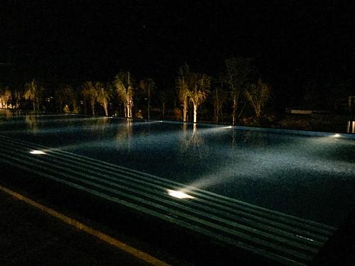 Pool area at night, Royalton Riviera Cancun Resort & Spa, Mexico