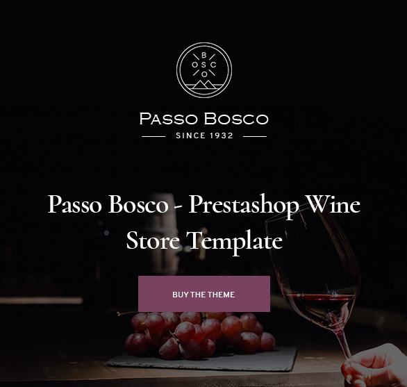 Passo Bosco - Prestashop Wine Store Template_banner