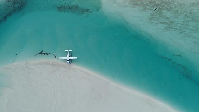 Seaplane aerial image