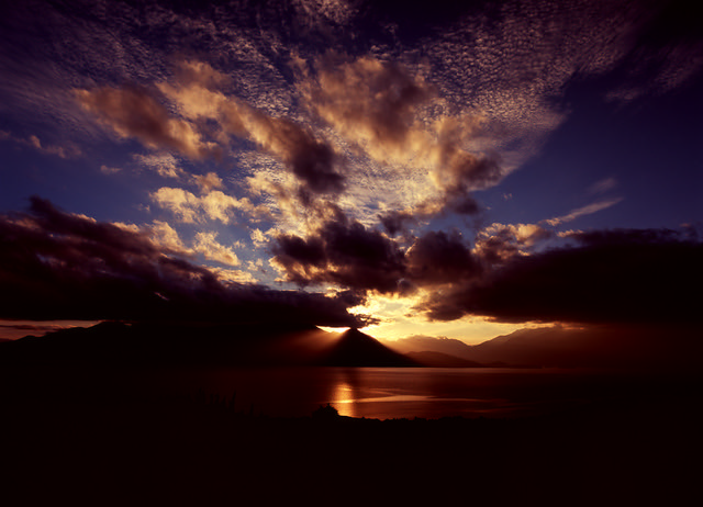 Velvia Te Anau Sunset (In Explore - Pentax 645Nii / MF Velvia 100)