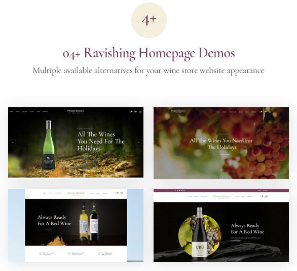 Passo Bosco - Prestashop Wine Store Template_04+ home page