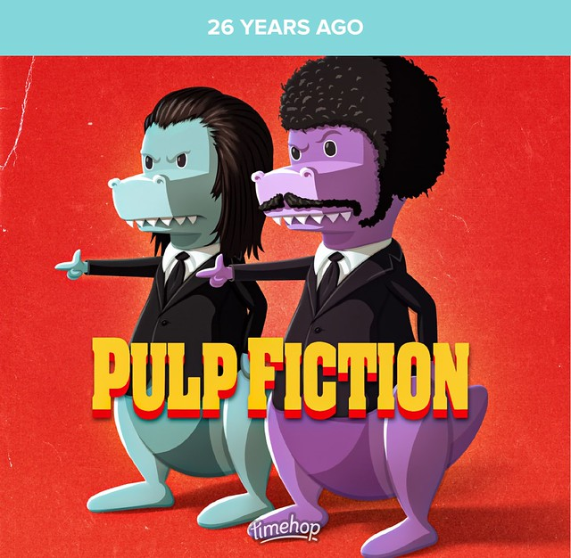 Pulp Fiction (1994 film) 🔫🚬🎥 #timehop #abe #johntravolta #vincentvega #wade #samuelljackson #juleswinnfield #quentintarantino #miramaxfilms #pulpfiction #pulpfiction1994 #crimefilm