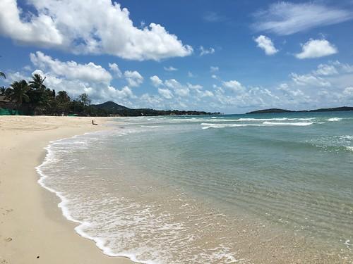 サムイ島非常事態宣言中のチャウエンビーチ Koh samui