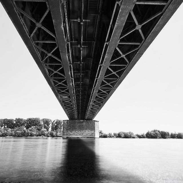 Der Rhein bei Ludwigshafen