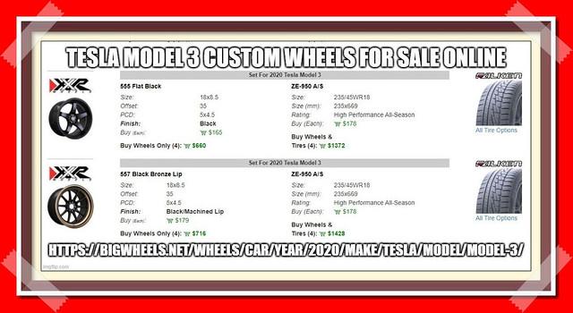 Tesla Model 3 Custom Wheels and Tires - Bigwheels.net