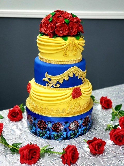 Beauty and the Beast inspired cake