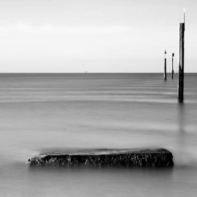 What the tide reveals - Outgoing tide, Southsea Beach