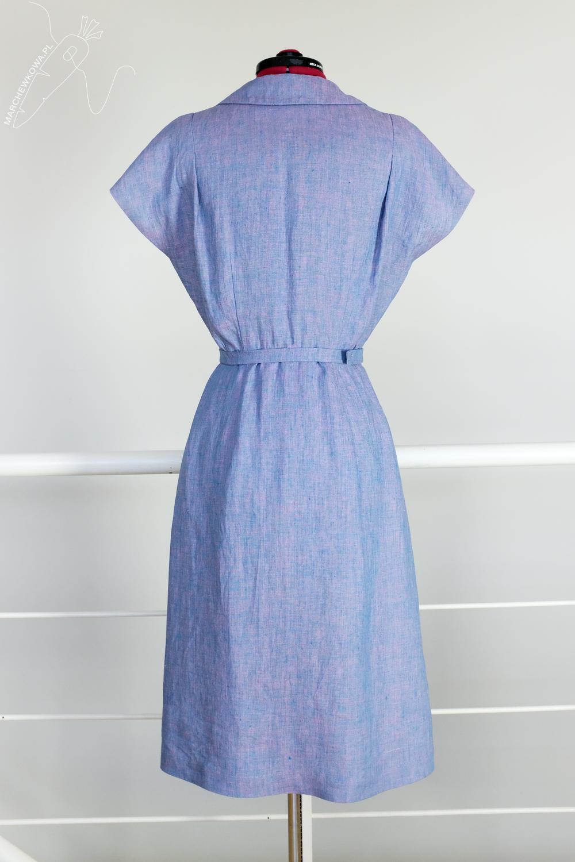 marchewkowa, tu się szyje, Butterick 6363, sukienka, lata '40., retro, vintage