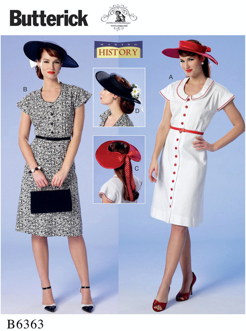 Butterick 6363, 1940s, sewing pattern