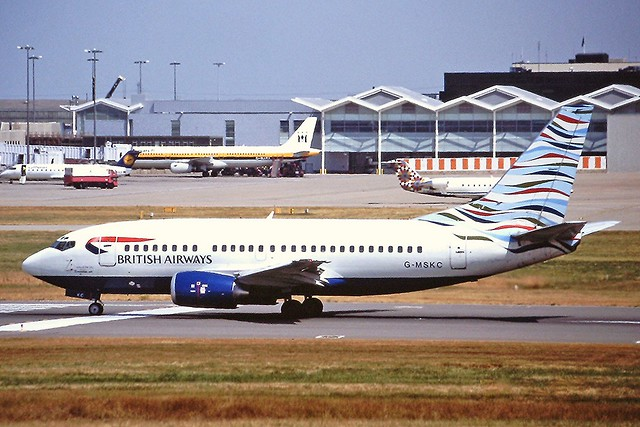 G-MSKC Boeing 737-500 Maersk BHX 29-07-99