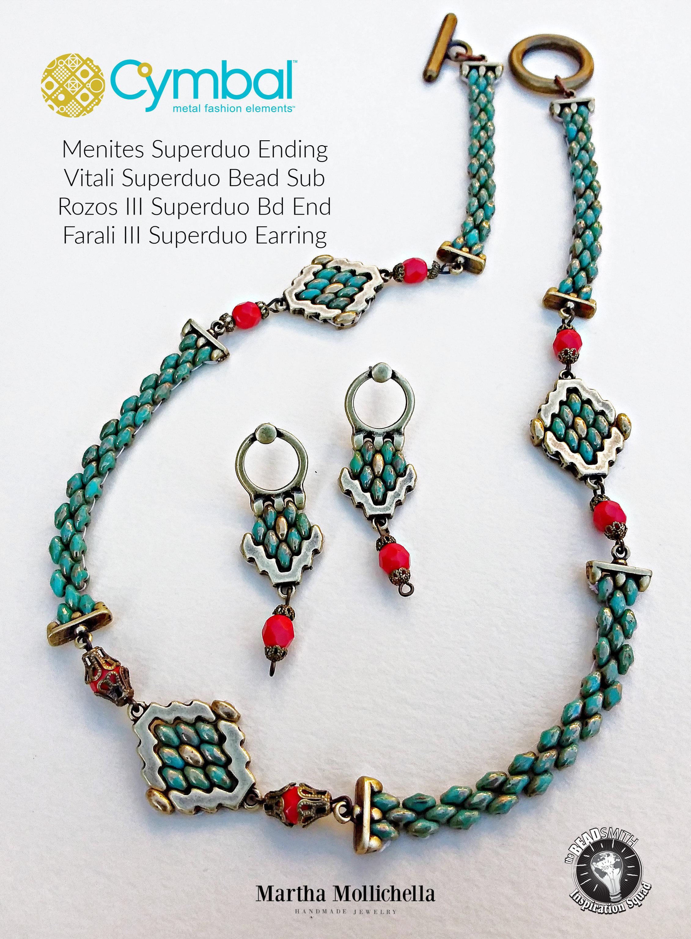 Cymbal fashion jewelry The Beadsmith Martha Mollichella