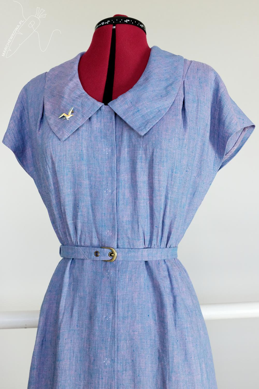marchewkowa, tu się szyje, Butterick 6363, sewing pattern, vintage, retro sewing