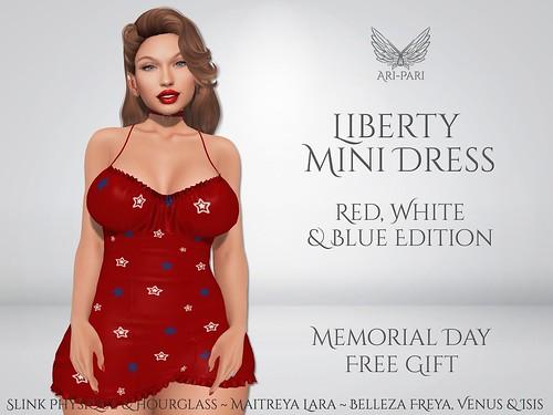 [Ari-Pari] Liberty Mini Dress - Memorial Day Free Gift