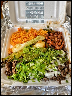 Carne Asada >Small Dinner Combo- now? - $14.00 used to be $6.95- Doubled due to Beef Price Inflation