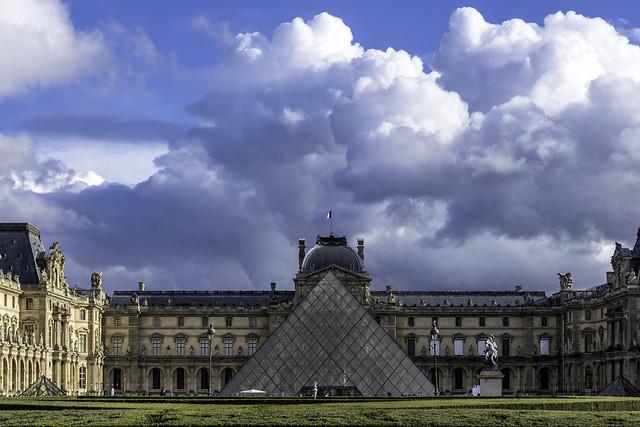 Louvre with I M Pei Pyramid Paris France