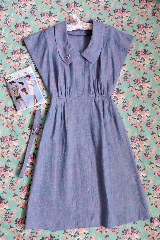 marchewkowa, tu się szyje, Butterick 6363, 1940s fashion