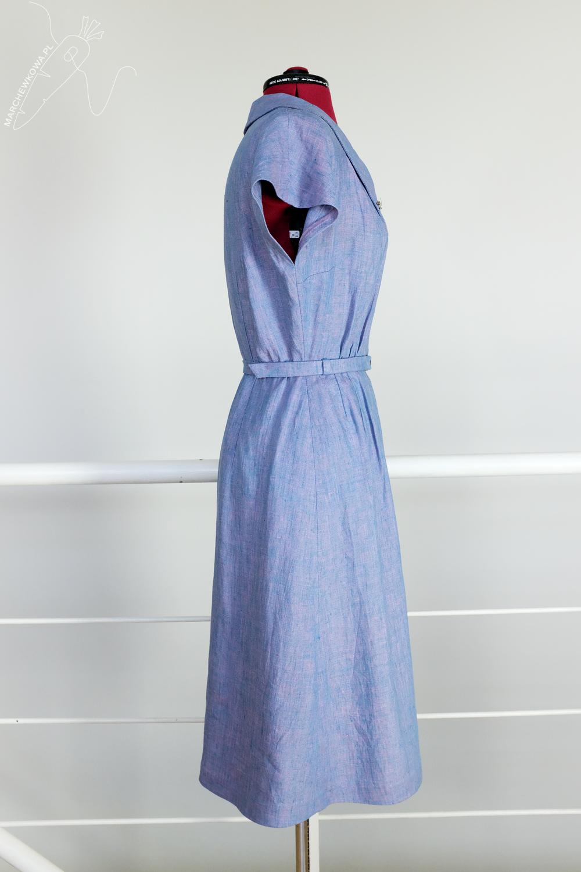 marchewkowa, tu się szyje, Butterick 6363, dress, 1940s, retro sewing, DIY, vintage