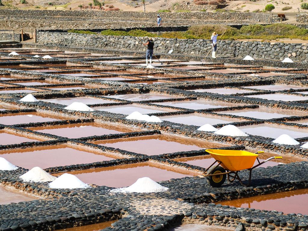 Salinas en las islas Canarias