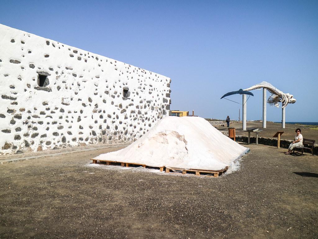 Cumulo de sal de las Salinas de Fuerteventura