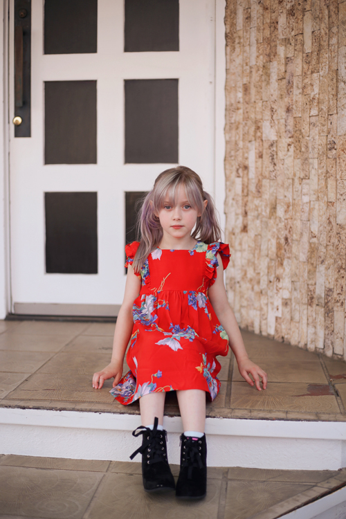 Trashy Diva Butterflies and Begonias Penny Dress