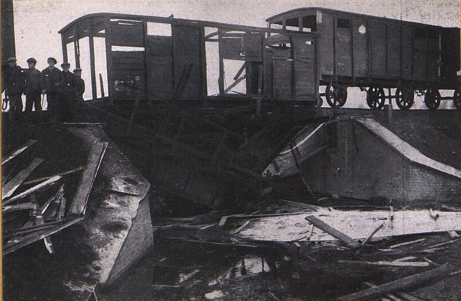 05. Железнодорожный мост в Брвинове, взорванный немцами