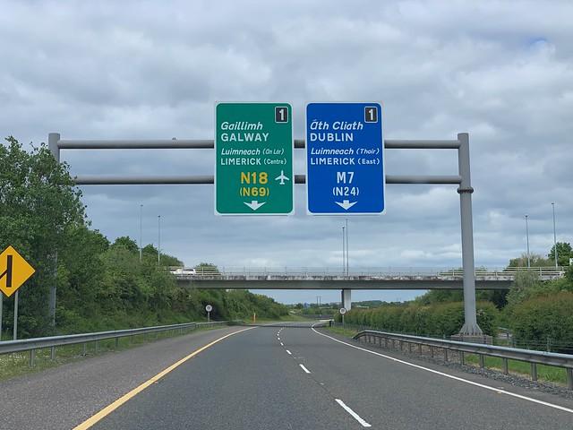 Interchange Approaching - M20 / M7 / N18 - Limerick,Ireland.