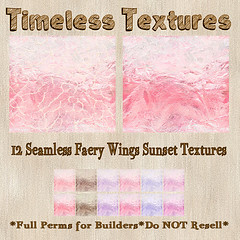 TT 12 Seamless Faery Wings Sunset Timeless Textures