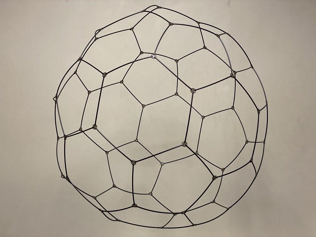 Lego Wireframe Truncated Icosahedron / Buckminsterfullerene molecule